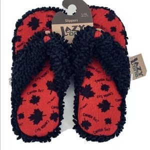 Lazy One Thong Spa Slippers Canada Eh Thick Soles